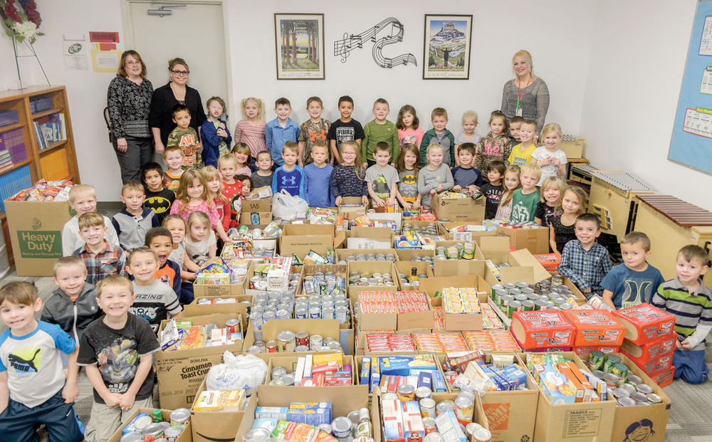 Garden Valley students 'fill the bucket' for people in need.