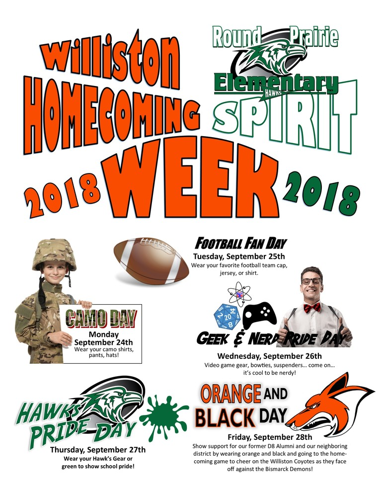 Homecoming Spirit Week is Coming!