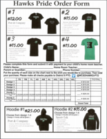 PTO Shirt Order Forms