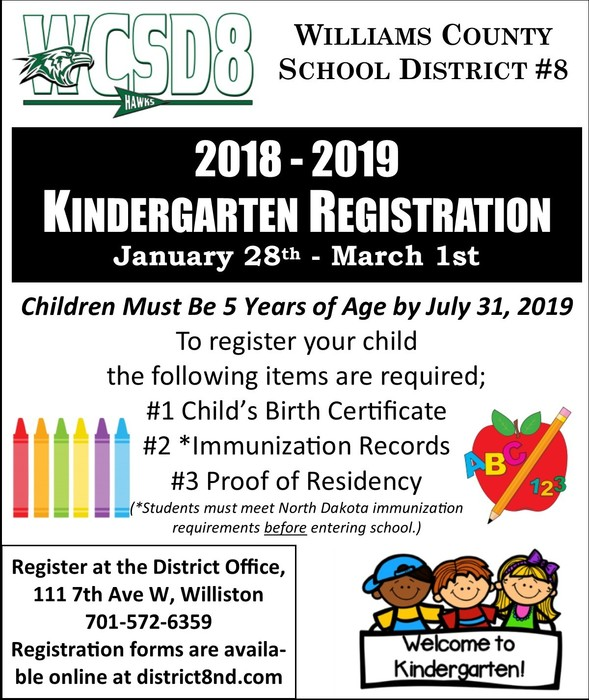 Kindergarten Registration Begins!