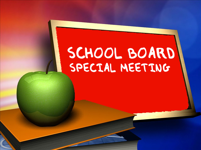 Special School Board Meeting 06/08/20